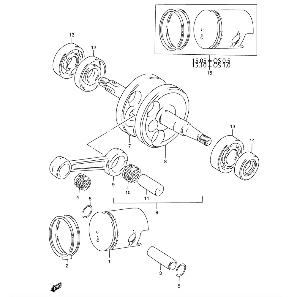 hight resolution of engine crankshaft