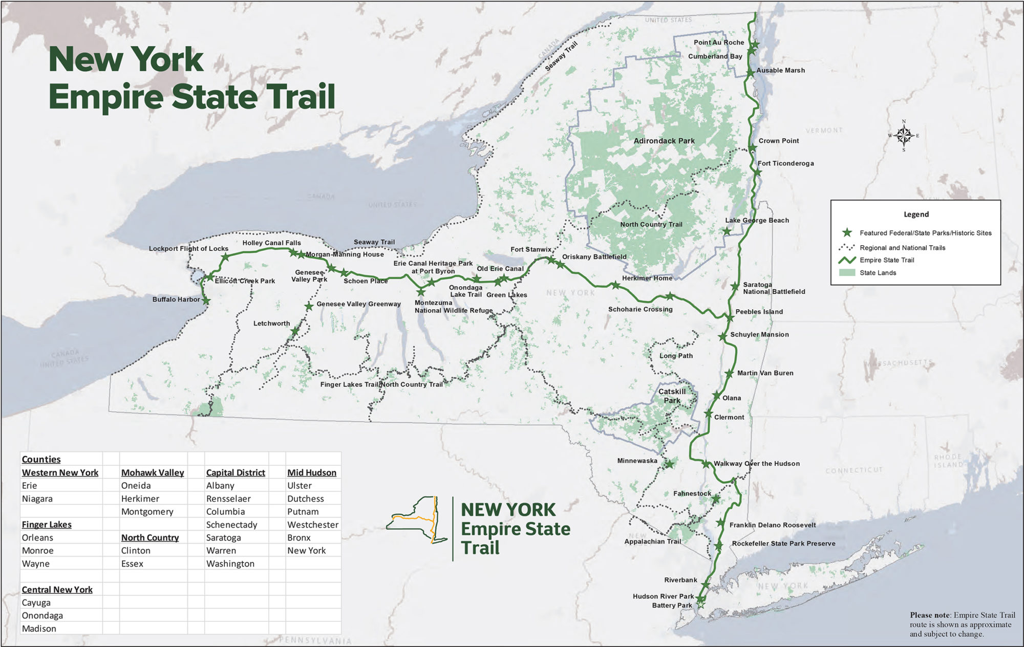 The Empire State Trail Connection Brewster To Hopewell Junction - New york map key
