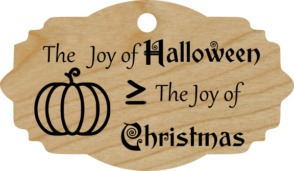 The Joy of Halloween is ≥ The Joy of Christmas