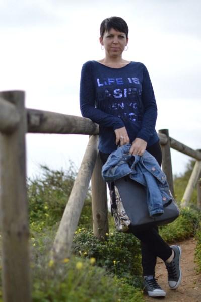 Blue top, blue jeans4