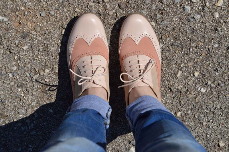 Brogues with skinny jeans