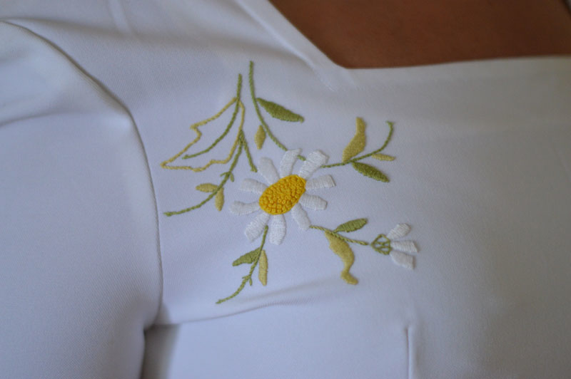 Vintage dress daisy