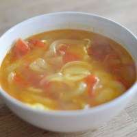 Tomato and onion broth