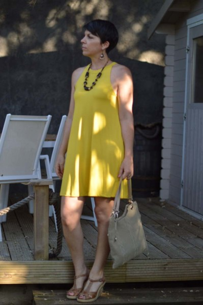 mustard yellow summer dress