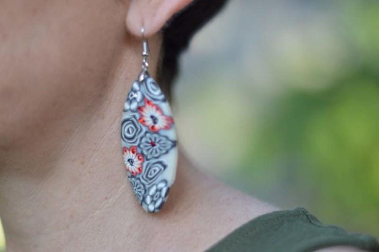 Floral ear-rings