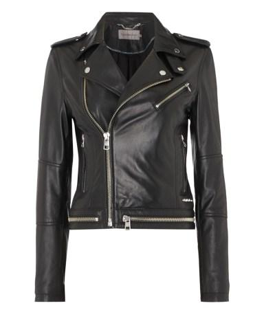 Black leather jacket House of Fraser
