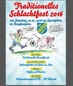 SVB Schlachfest 2016