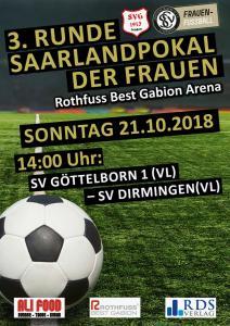 Saarlandpokal Frauen 21. Oktober - Fußballverein im Saarland