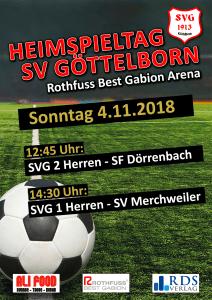 Heimspieltag 4. November - Fußballverein im Saarland
