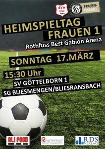 Heimspieltag 17. März - Fußballverein im Saarland