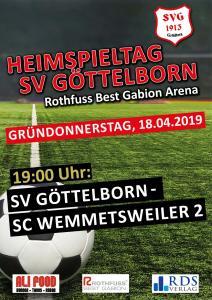 Heimspieltag 18. April - Fußballverein im Saarland