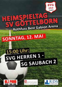 Heimspieltag am 12. Mai - Fußballverein im Saarland