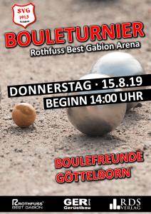 Bouleturnier beim SVG - Fußballverein im Saarland