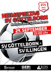 Heimspieltag 29. September - Fußballverein im Saarland