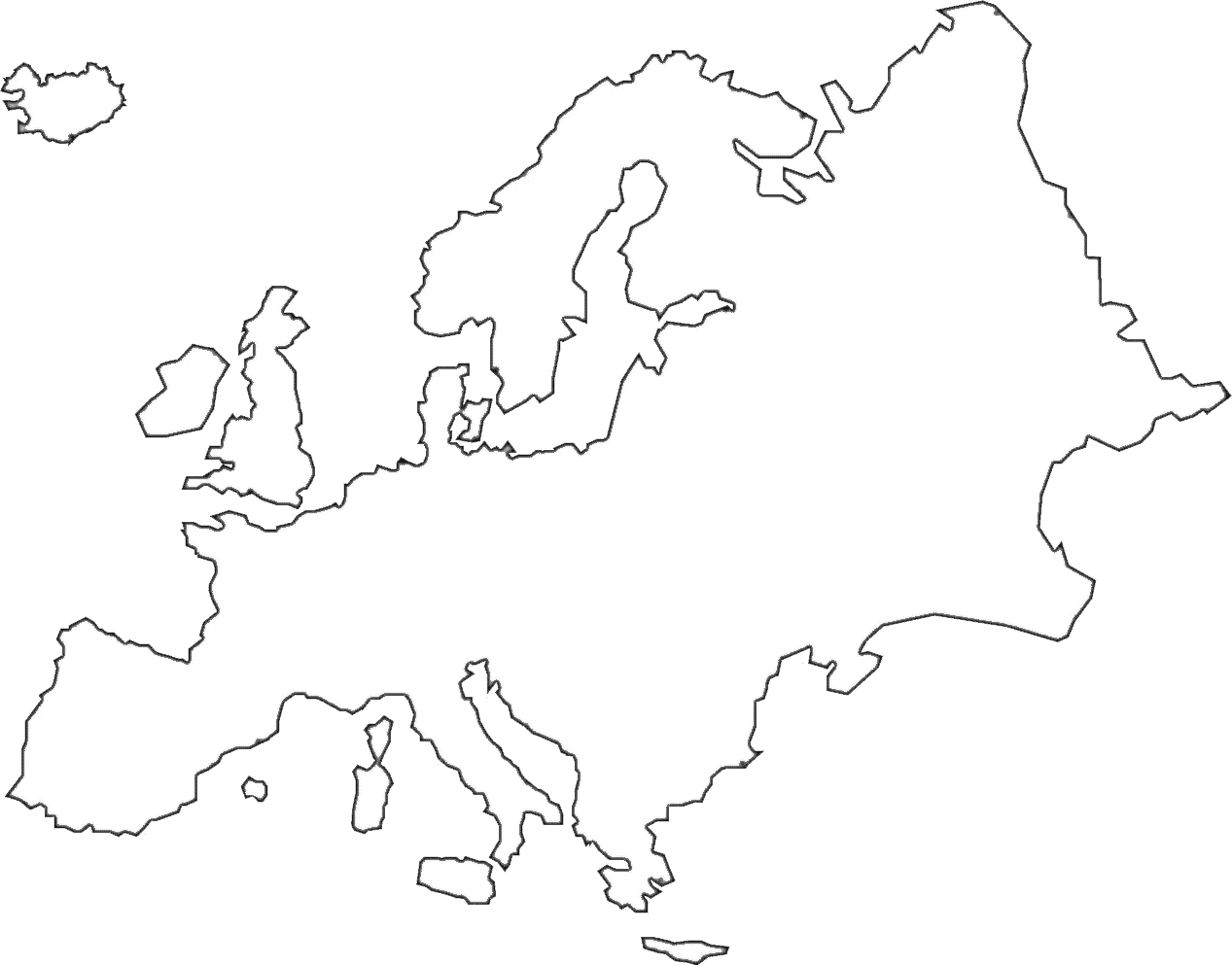 Europe Continent Outline Map Pictures to Pin on Pinterest