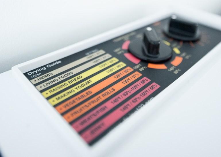 Excalibur Dehydrator kontrolpanel