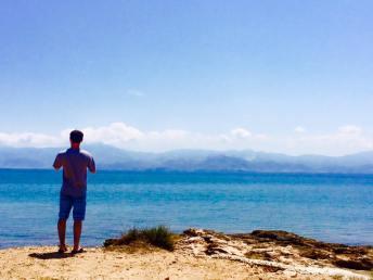 Paros Greece mountain view ocean