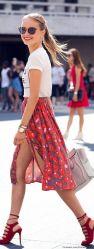graphic tee fashion stylish skirt