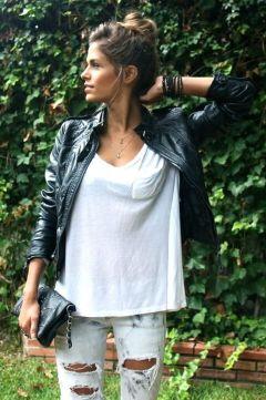 how to wear a leather jacker like a true stylish european