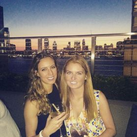 Sarah and I enjoying the NYC skyline from Loopey Doopey Rooftop Bar