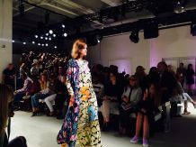 libertine model fashion Skylight Clarkson Sq New York NYFW september details numbers neon dress