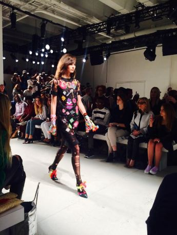libertine model fashion Skylight Clarkson Sq New York NYFW september embroidered dress