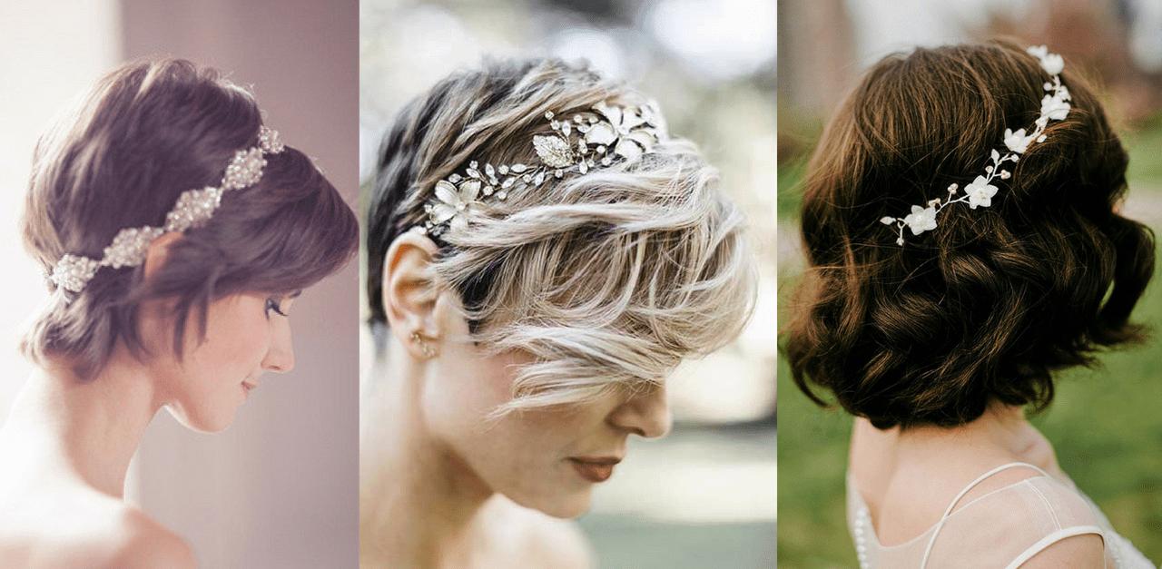 Svatební účesy zkrátkých vlasů – TOP trendy 2019