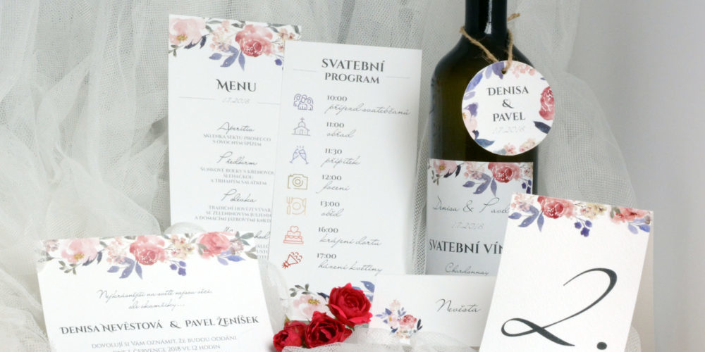Doplňkové tiskoviny na svatbu