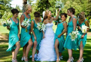 družičky a nevěsta