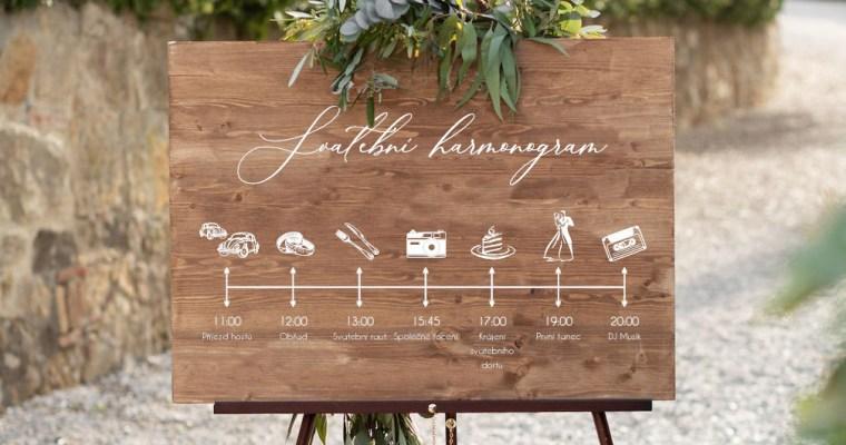 Svatební harmonogram neboli program svatby!