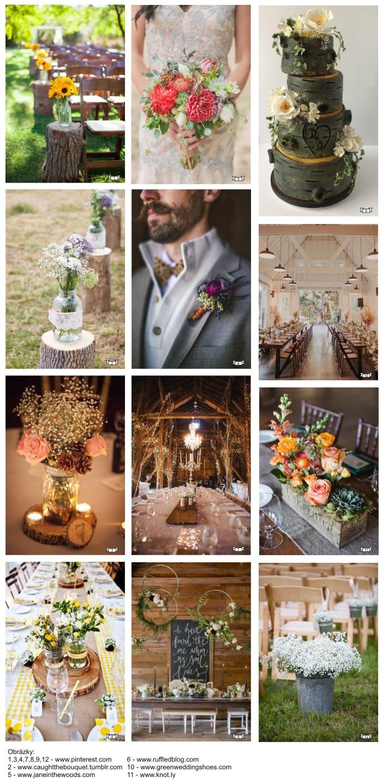 dekorace a květiny v rustik stylu