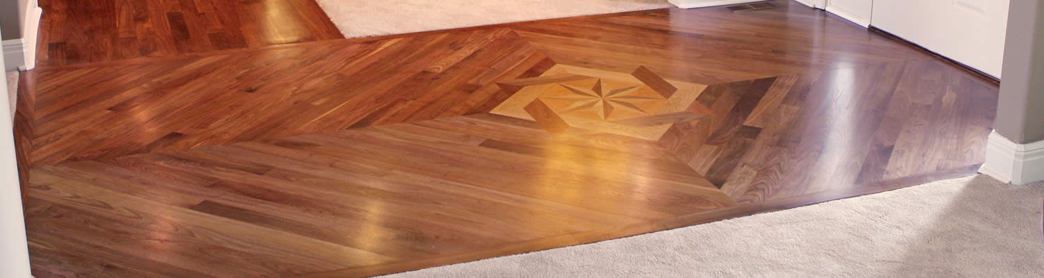 Wood Floor Medallions Inlays and Parquets  Custom Wood