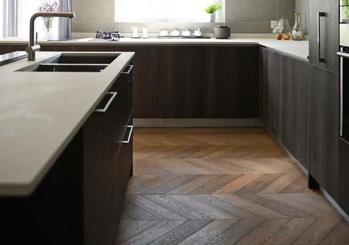 chevron wood floor design