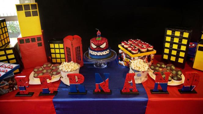 Decoracion De Fiesta Spiderman