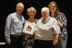 Pay It Forward Award winner Janet Bowman with Director of Programs Jennifer Clark
