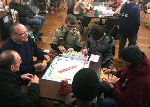 Ozanam Inn Holiday Party sponsored by Scout Troop 380