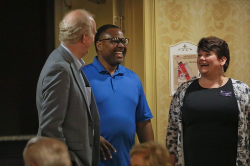 Steve Sage, CFO/COO, Lonnie Williams, Associate Director of Programs, and Leslie Harrington, Office Administrator.