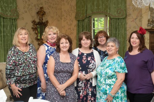 Kathy Champion, Theresa Blake, Margaret Payne, Maurica Clouser, Marilyn McDaniel, Cindy Sprowl and Angela Champion Sprowl. Photo by Andrea Hutchinson, courtesy of The Voice-Tribune.