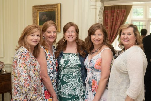 Amy Smith, Monica Schroeder, Abigail Costello, Sara Smith Bowman and Pamela King. Photo by Andrea Hutchinson, courtesy of The Voice-Tribune.