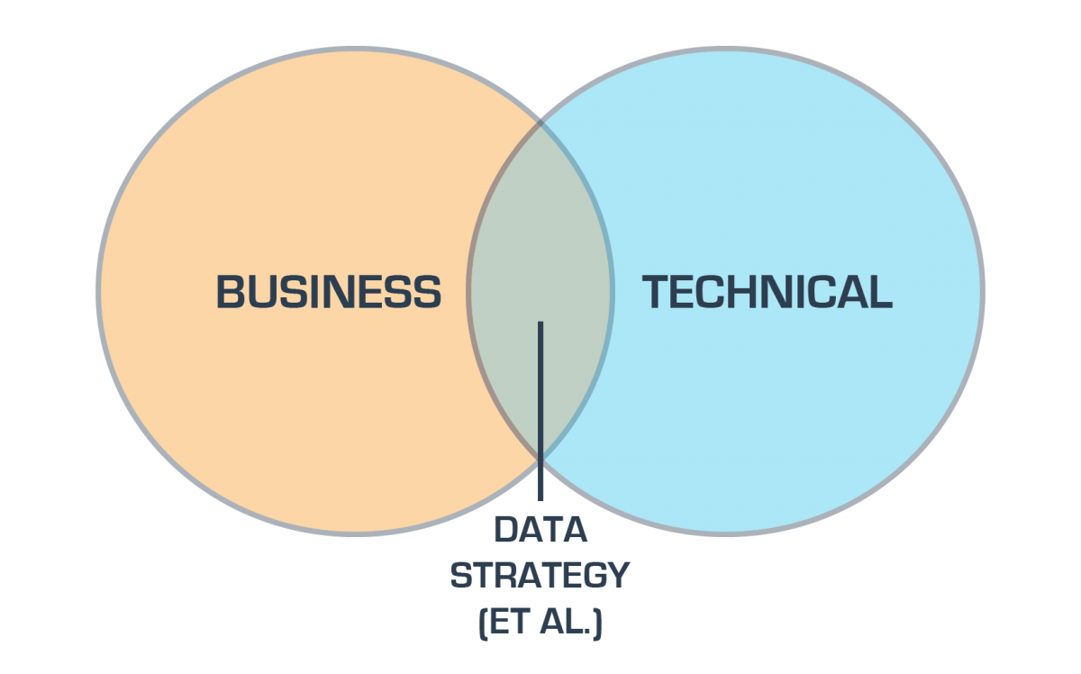 hight resolution of the venn diagram of data strategy