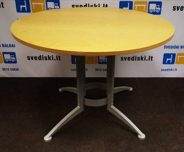 Švediški.lt Ąžuolo Apvalus Stalas Su Pilka Koja, Švedija