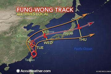 tyfooon, typhoon, accuweather, storm, Taiwan, Sven, Fida, overleefd