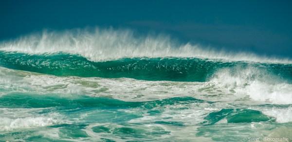 werk aan de muur, sven, foto, canvas, print, grote, groene, golven, golf, zee, strand, album
