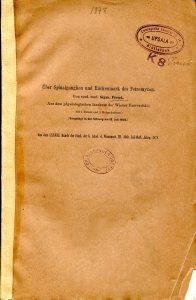 Title of Freud paper on Lamprey