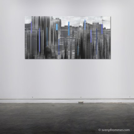 Hong Kong Skyline - Mixed Media Works by Sven Pfrommer