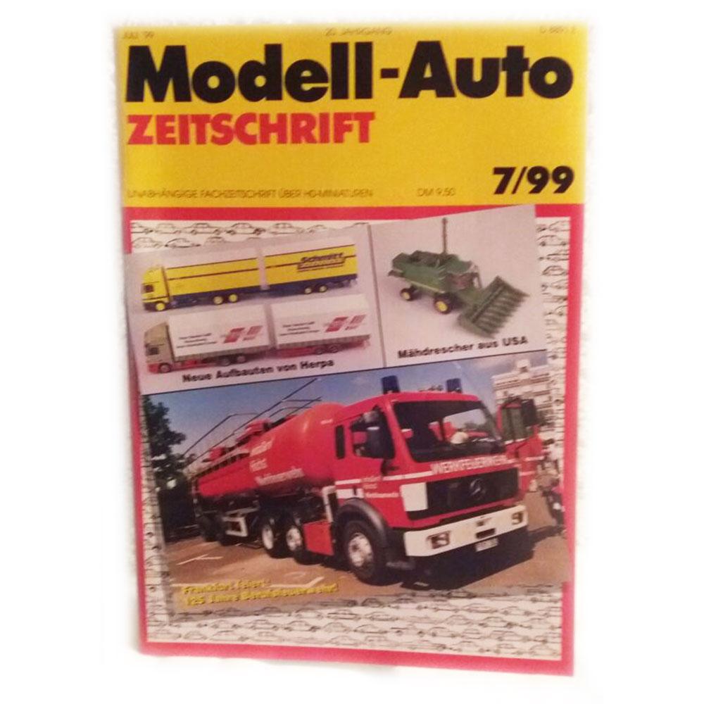Zeitschrift Modell-Auto, Jahr 1999