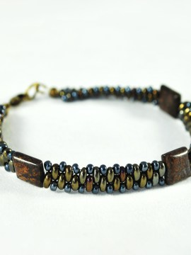 Men's Bronzite Bracelet