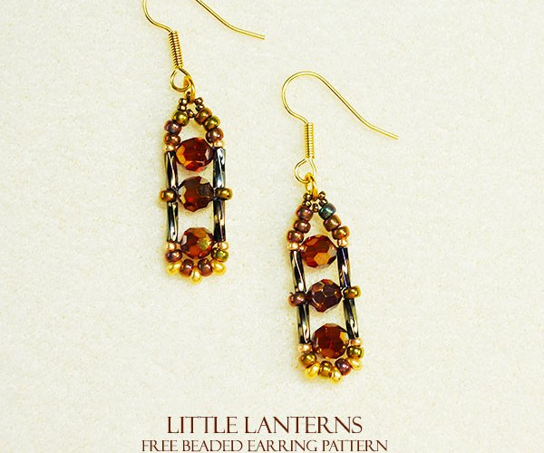 Little Lanterns Free Easy Beading Pattern for Earrings