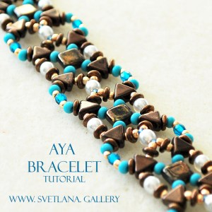 Aya Bracelet Tutorial. Easy and quick to make!