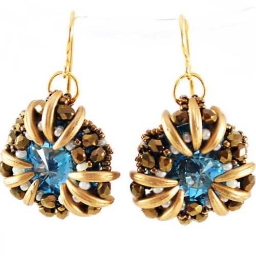 Nabia Earrings Bead Pattern and Tutorial by Svetlana.Gallery